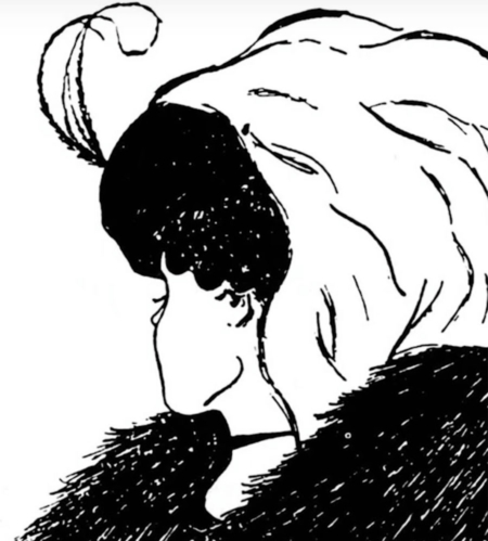 This famous optical illusion allows you to make your own interpretation: are you seeing an old woman in profile or a young woman looking away